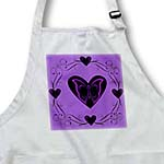 click on Swirl and black heart on lavender to enlarge!