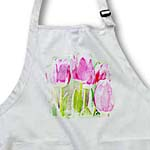 click on Painted Pink Tulip Flowers - Spring Floral Print to enlarge!