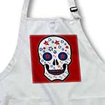 click on Red, White, And Blue Sugar Skull to enlarge!