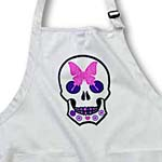 click on Sugar Skull With A Pink Butterfly and Flowers to enlarge!