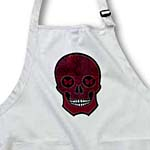 click on Ruby Red Damask Skull to enlarge!