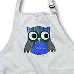 click on Cute Bold Bright Blue Striped Owl to enlarge!