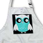 click on Cute Bright Blue Diamond Patterned Owl to enlarge!
