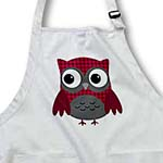 click on Cute Ruby Red Houndstooth Patterned Owl to enlarge!