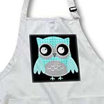 click on Cute Turquoise Houndstooth Patterned Owl to enlarge!
