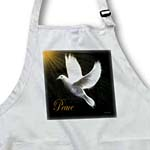 click on Peace Dove - Black - White -Gold - Bird Art to enlarge!