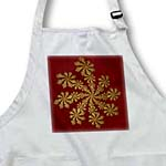 click on Gold on Burgundy Snowflake to enlarge!