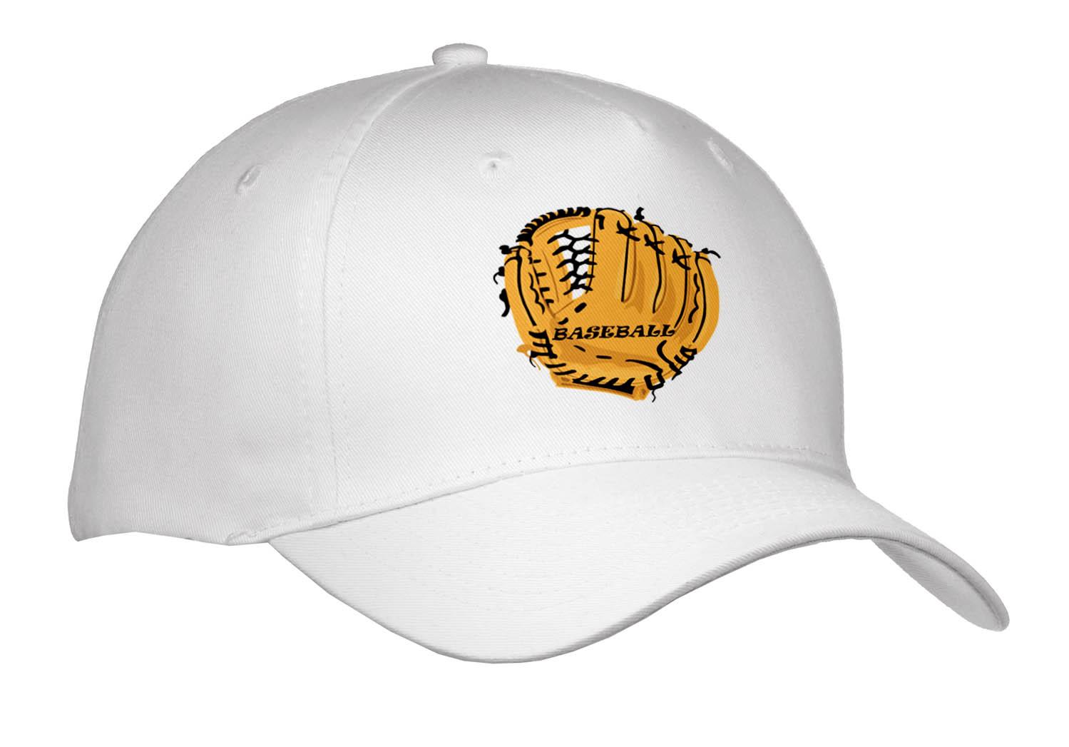 3dRose - Florene Sports - Large Baseball Mitt With Word Baseball - Caps
