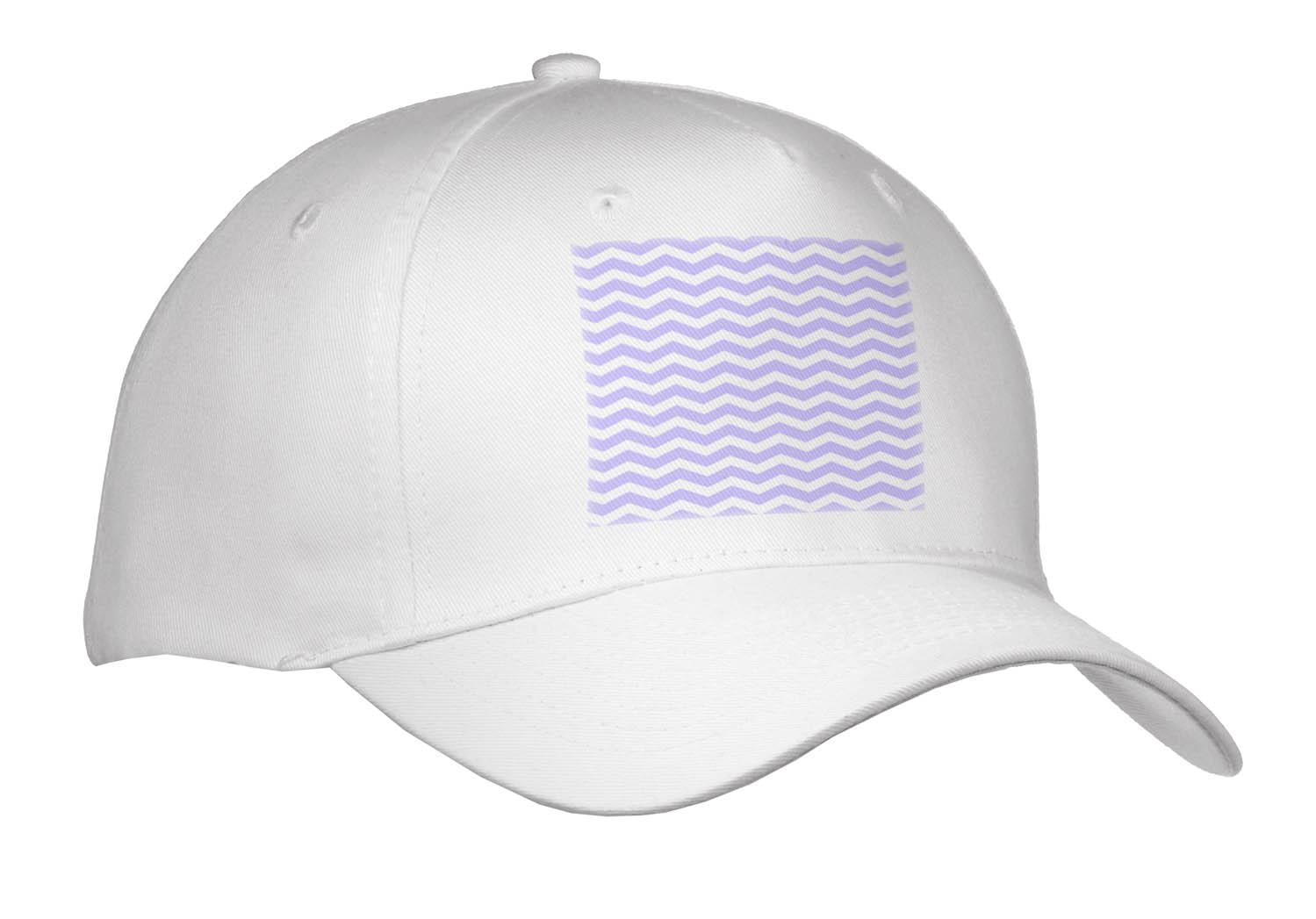 3dRose - InspirationzStore Chevron Patterns - Lilac Purple and White Chevron Zig Zag Striped Pattern Feminine and Fun - Caps at Sears.com