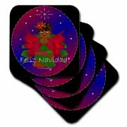 3dRose - Yves Creations African-American Angels - African-American Christmas Angel Baby Girl Praying With Feliz Navidad Text at Sears.com
