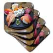 click on Salmon and Tuna Sushi On Black Plate Gifts to enlarge!