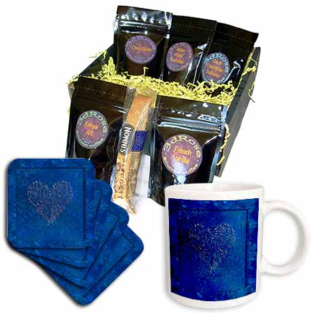 click on Silver Heart Design on Royal Blue to enlarge!