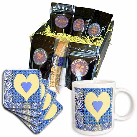 click on Hearts and Paisley Design Blue and Yellow to enlarge!
