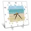 click on Beach Scene Sand Ocean with Flower Border Frame to enlarge!