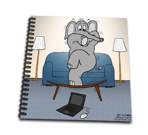 click on Modern Elephant Phobias Afraid of a Laptop Mouse to enlarge!