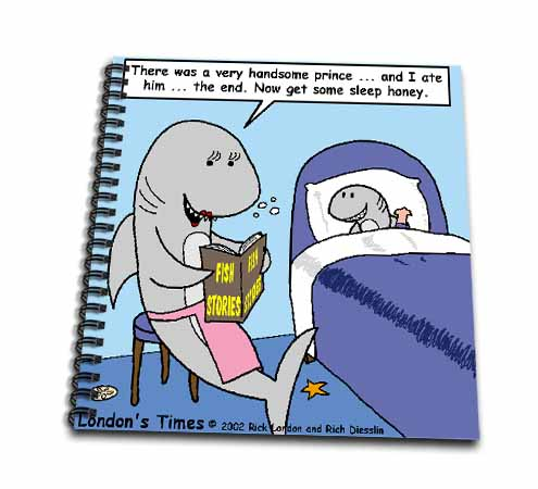 click on Shark Bedtime Stories  to enlarge!