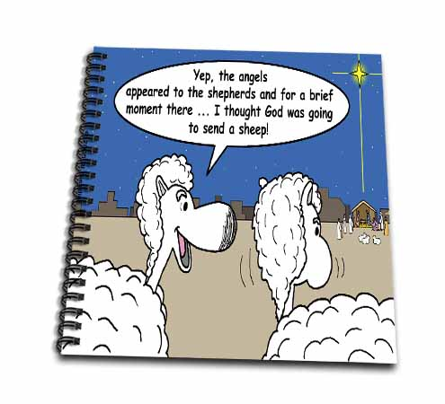 click on Sheep Discuss Christmas to enlarge!