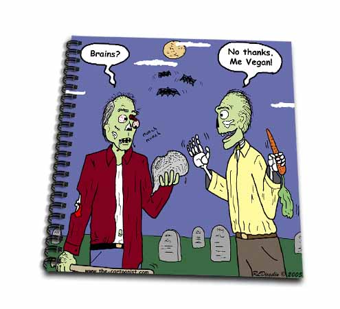 click on Halloween - Zombie Vegans to enlarge!