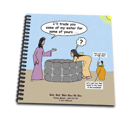 click on John 4 5 - 26 Jesus talks to the woman at the well to enlarge!