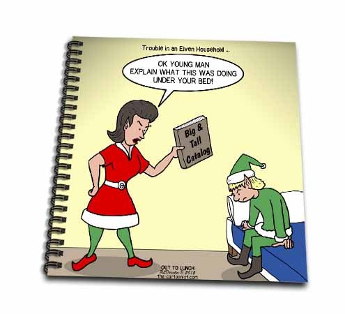 click on Elf Family Troubles because of a Hidden the Big and Tall Catalog to enlarge!