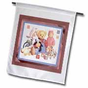 3dRose - Susan Brown Designs Teddy Bear Themes - Teddys Family - Flags