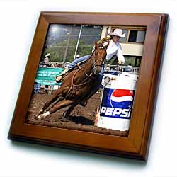 3dRose - Horse - Barrel Racing - Framed Tiles at Sears.com