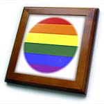 click on Rainbow Flag Gay Lesbian Pride Icon as circular shape to enlarge!