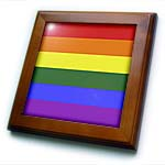 click on Rainbow Flag Gay Lesbian Pride Icon to enlarge!