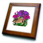 click on Purple and Pink Flowers, Ferns and a Quail  to enlarge!