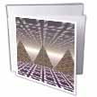 click on Pyramids three dimensional digital art of tiled series of triangular pyramids to enlarge!