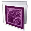click on Rich eggplant purple roses surrounded by a striped and marbelized frame to enlarge!
