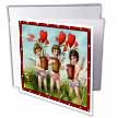click on Three Cupid Kids Holding Heart Plants (Textured and Vintage) to enlarge!