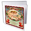 click on Two Cupids in a Rose Wreath (Vintage) to enlarge!