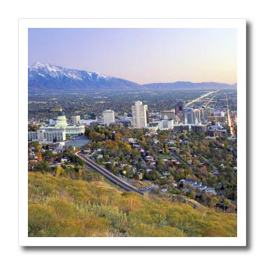 3dRose - Danita Delimont - Utah - Salt Lake City and Valley, Wasatch Mountains, Utah - US45 SSM0147 - Scott T. ...