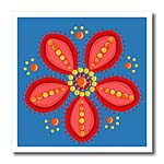 click on Red Folk Art Flower to enlarge!
