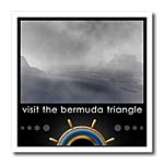 click on Bermuda Triangle mock travel advertisement highlighting boat trips to Bermuda to enlarge!