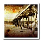 click on Pacific Pier grunge photograph of Hermosa Beach, California pier on Pacific Ocean to enlarge!