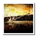 click on Iron Ore Freighter grunge styled photograph of an iron ore freighter ship in dock to enlarge!