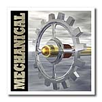 click on Mechanical shows silver and golf gear and axle with brass colored mechanical text to enlarge!
