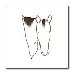 click on Horse Head Outline Art Drawing to enlarge!
