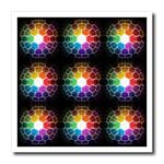 click on Honeycomb Spectrum shows stylized burst of light through prism into honeycomb to enlarge!