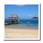click on Exotic and Tropical Fiji Beach with Thatched Roof Pier to enlarge!