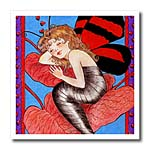 click on Human butterfly girl wings butterfly sleeping dreaming whimsical romantic red to enlarge!