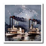 click on Midnight Race in the Mississippi River Painting to enlarge!