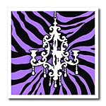 click on Funky purple zebra print with chic white chandelier to enlarge!