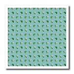 click on Pink green floral pattern on blue green background to enlarge!