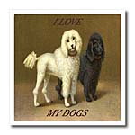 click on White and Black Poodles With Love to enlarge!