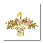 click on Pink Flowers in Gold Basket to enlarge!