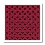 click on Small entwined hearts and a rose on a dark burgundy or dark maroon background. to enlarge!
