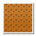 click on Small entwined hearts and rose on an orange background to enlarge!